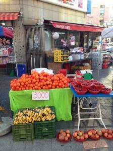 penjual buah di ansan