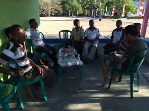 kordinasi camat dengan para pejabat desa.