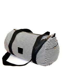 Duffle Bag Black White Line